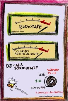 Sábado, Radiotape e Colorido Artificialmente no Nafta Pub